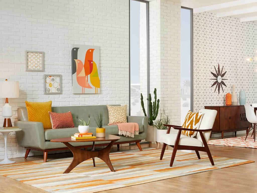 Mid-century living room