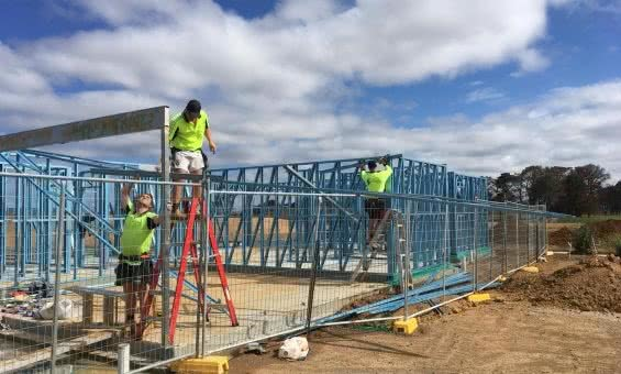 The first real local builders to use Truecore steel in the Canberra region